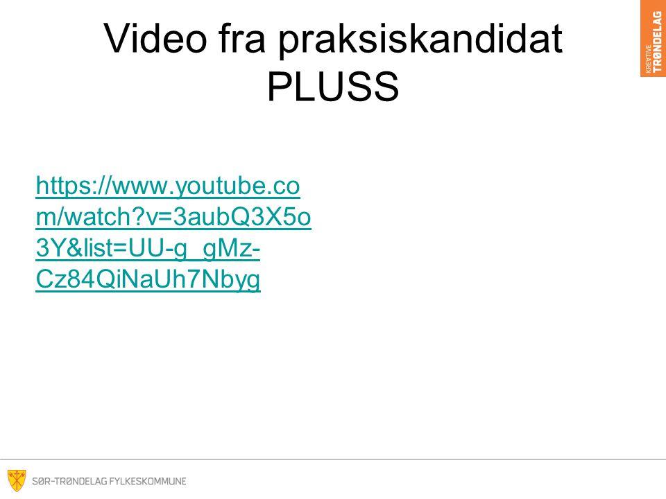 Video fra praksiskandidat PLUSS