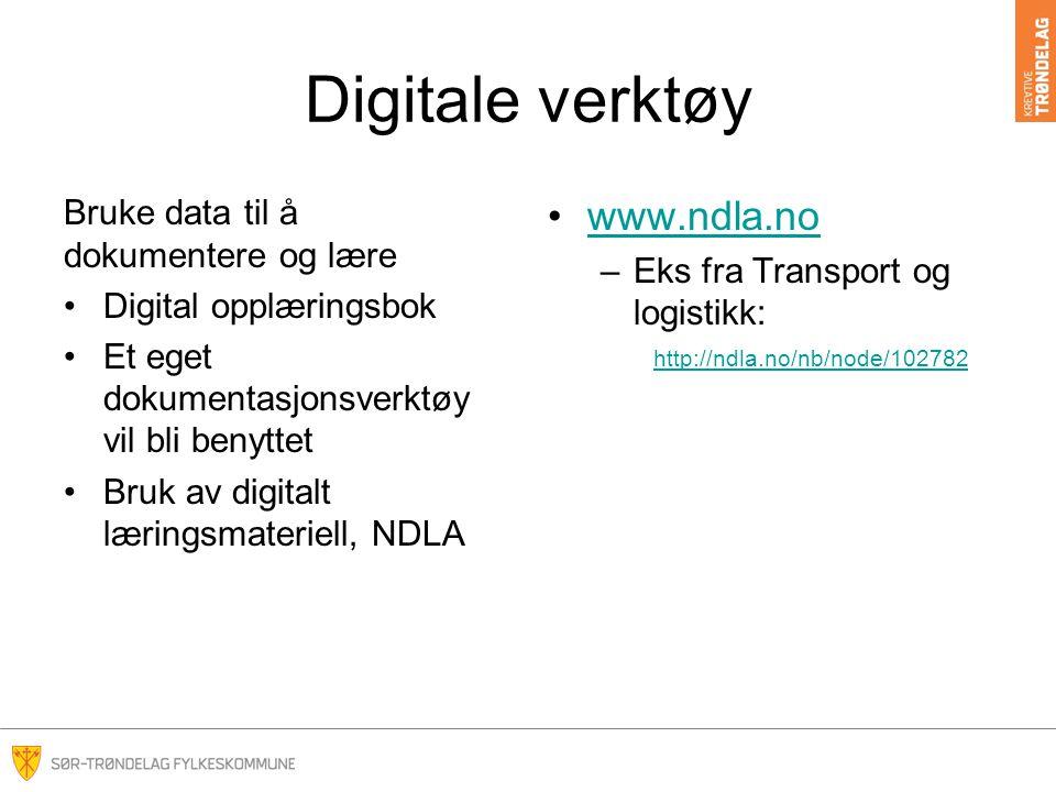 Digitale verktøy www.ndla.no Bruke data til å dokumentere og lære
