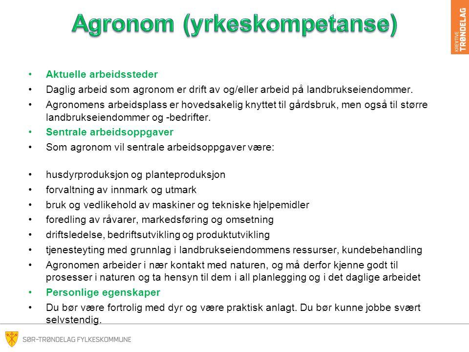 Agronom (yrkeskompetanse)