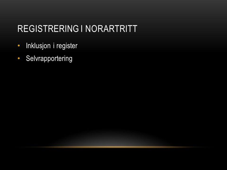 REGISTRERING i NorArtritt