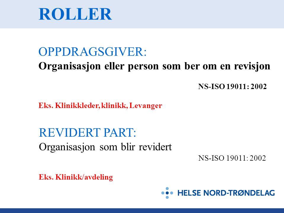 ROLLER OPPDRAGSGIVER: REVIDERT PART: