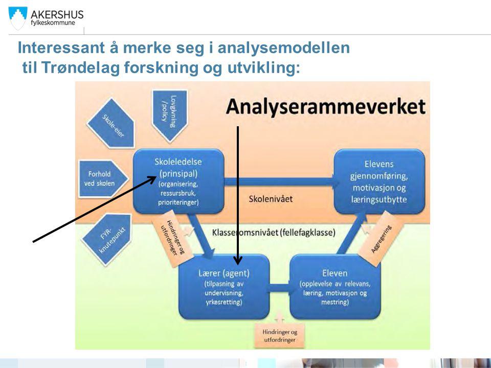 Interessant å merke seg i analysemodellen