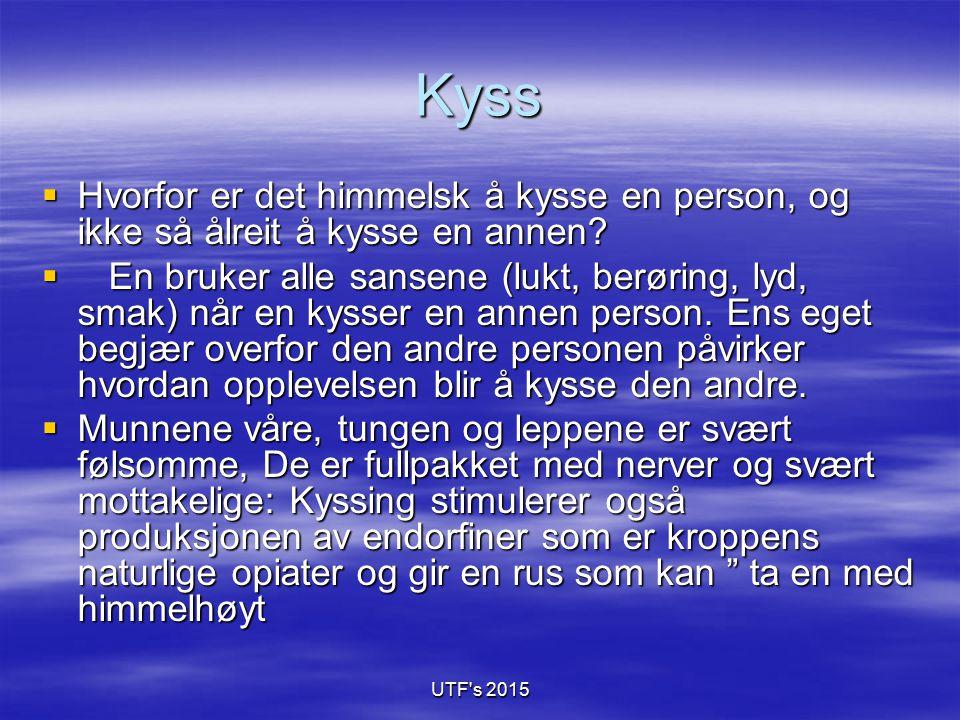 Kyss Hvorfor er det himmelsk å kysse en person, og ikke så ålreit å kysse en annen