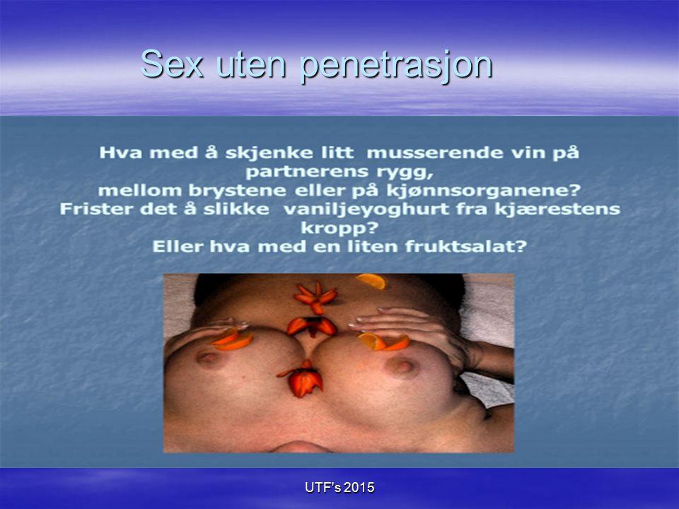Sex uten penetrasjon UTF s 2015