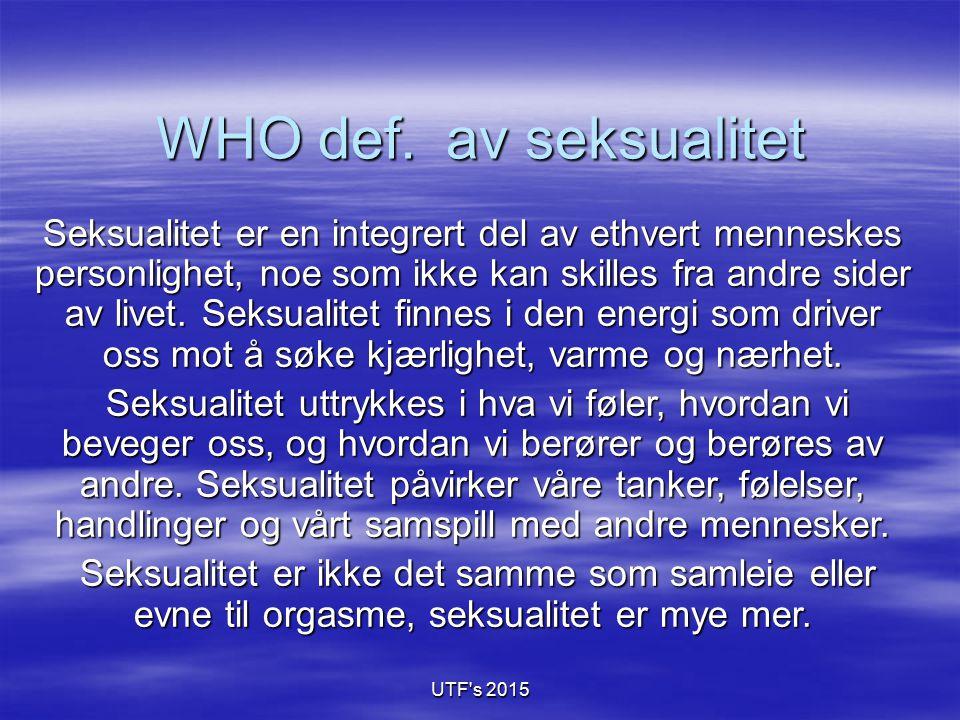WHO def. av seksualitet
