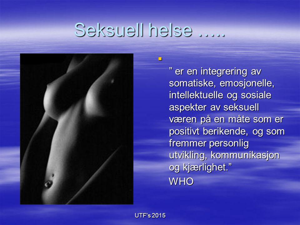 Seksuell helse …..
