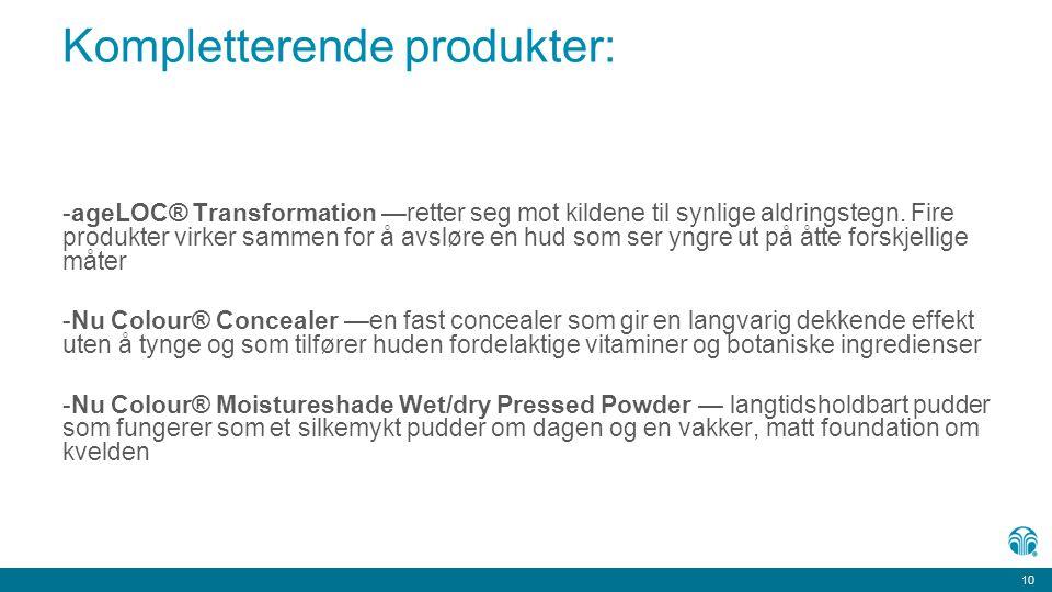 Kompletterende produkter: