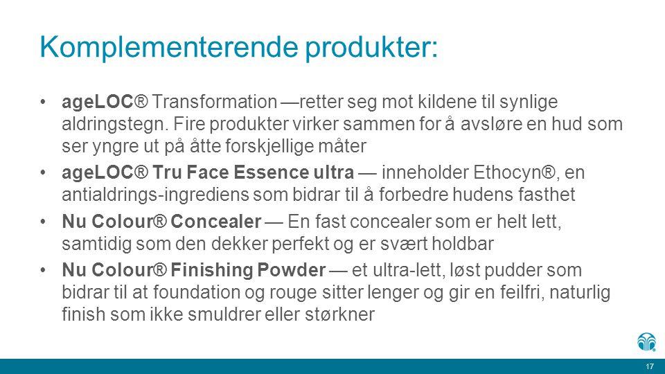 Komplementerende produkter: