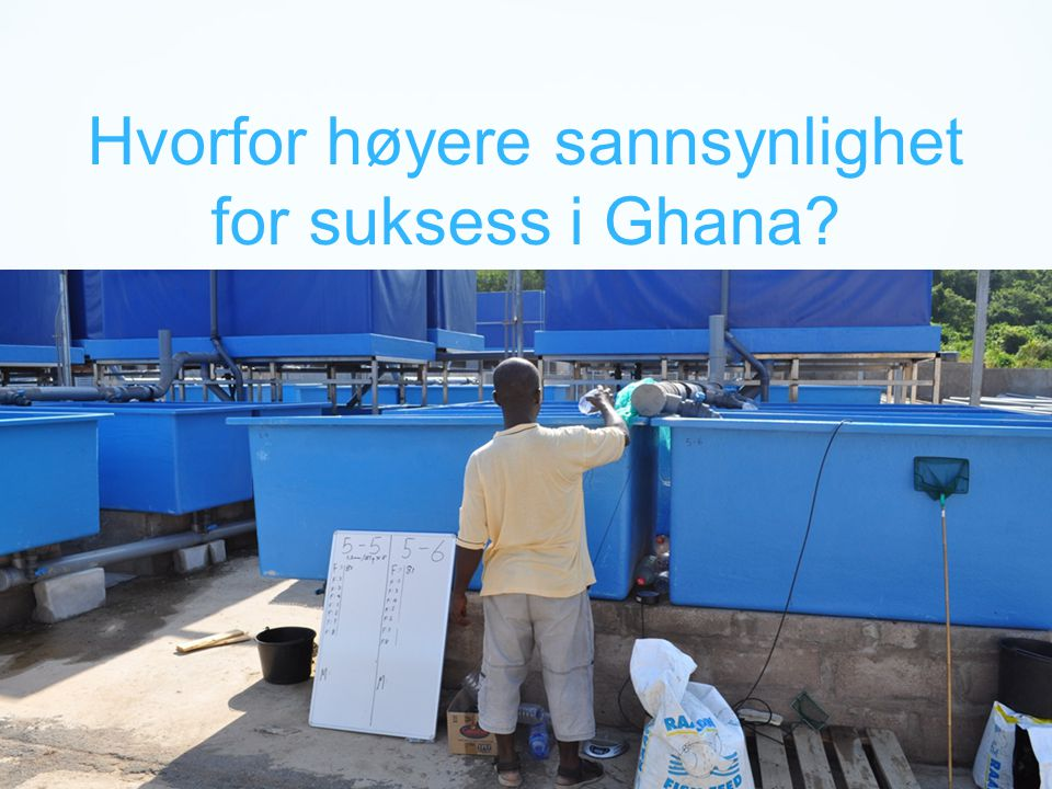 Hvorfor høyere sannsynlighet for suksess i Ghana