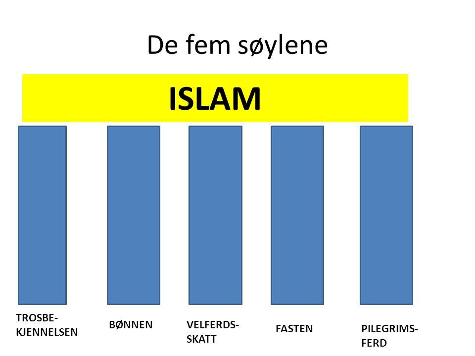 ISLAM De fem søylene TROSBE-KJENNELSEN BØNNEN VELFERDS-SKATT FASTEN