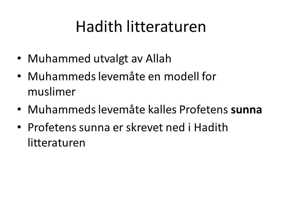 Hadith litteraturen Muhammed utvalgt av Allah