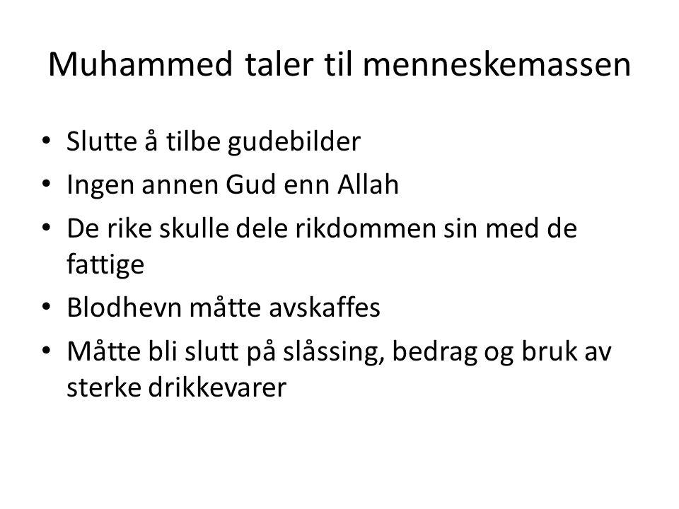 Muhammed taler til menneskemassen