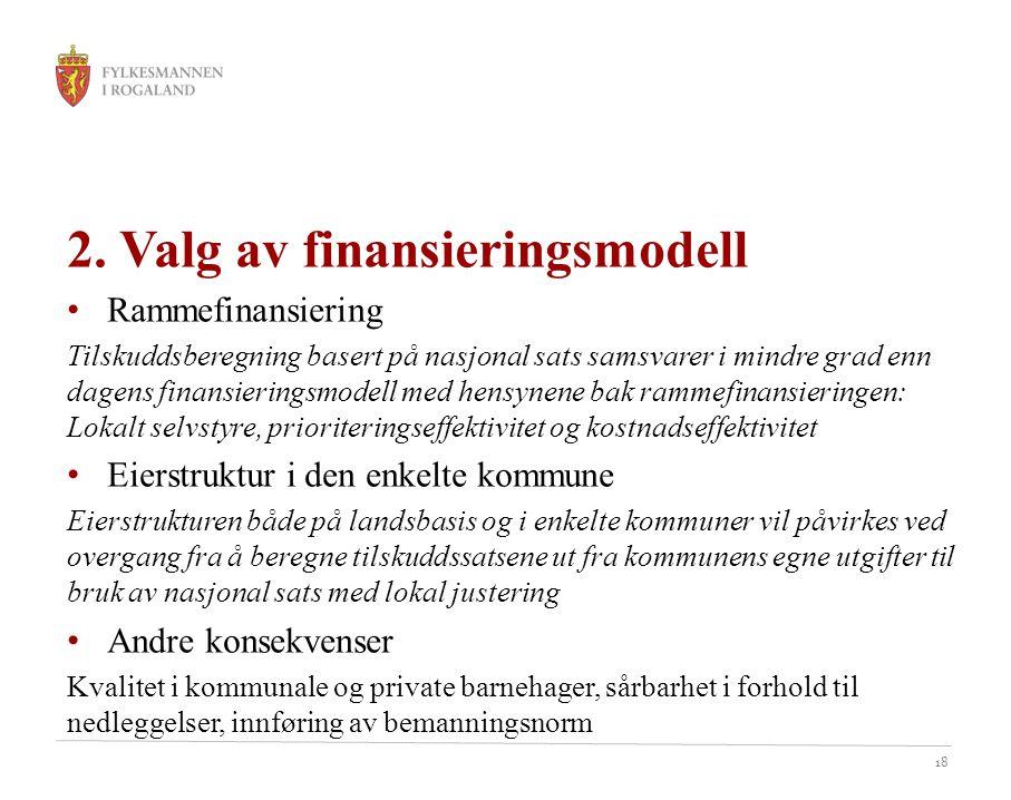 2. Valg av finansieringsmodell
