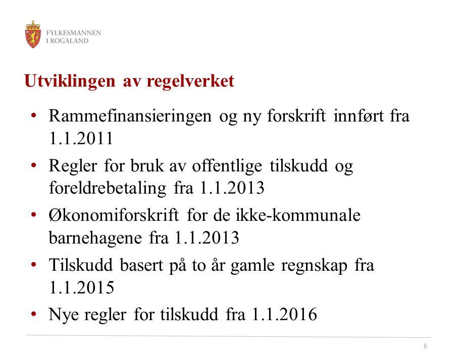 Utviklingen av regelverket