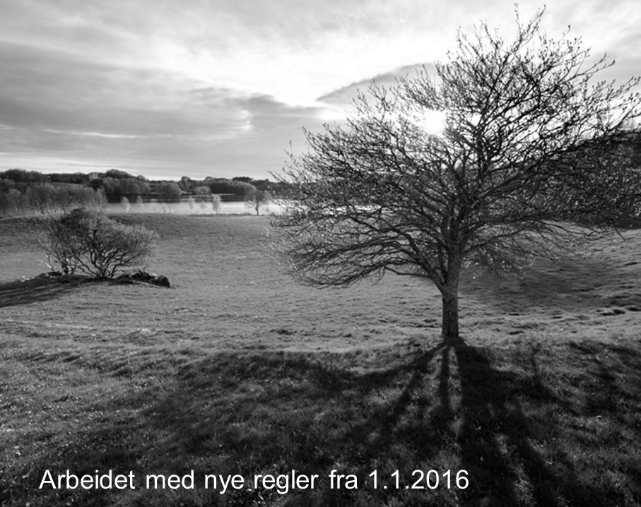 Arbeidet med nye regler fra 1.1.2016