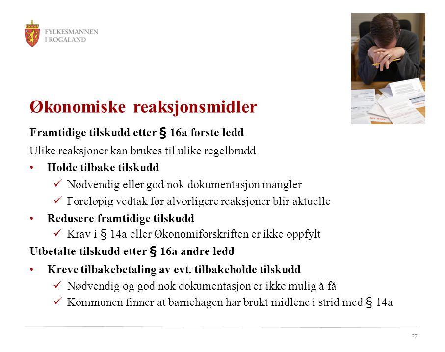 Økonomiske reaksjonsmidler