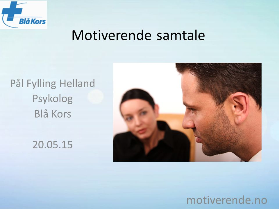 Pål Fylling Helland Psykolog Blå Kors 20.05.15