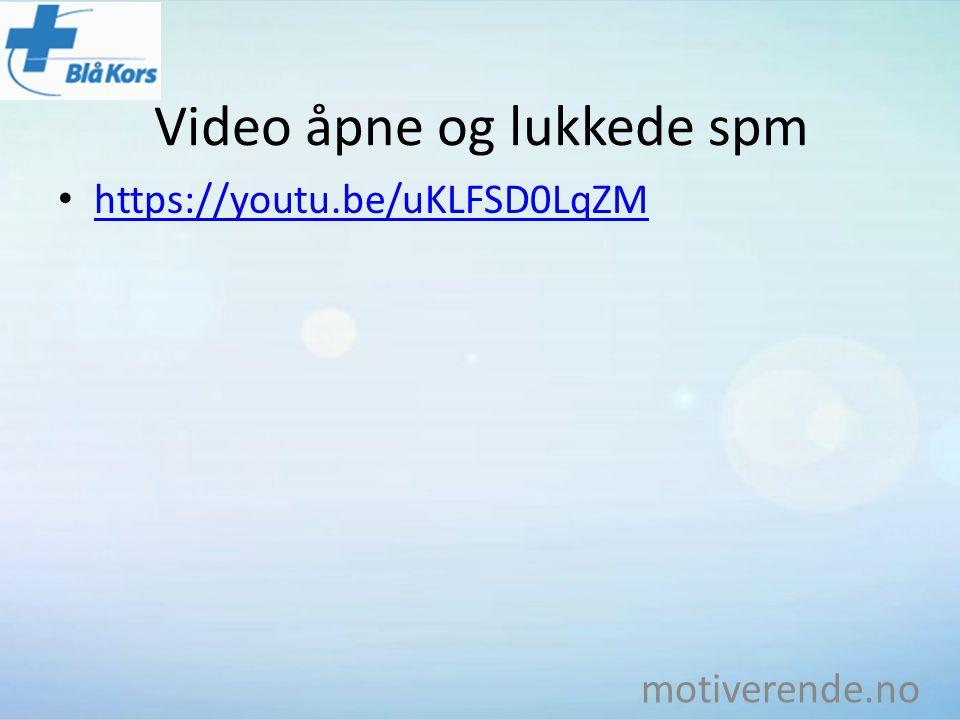 Video åpne og lukkede spm
