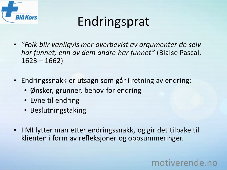 Endringsprat motiverende.no
