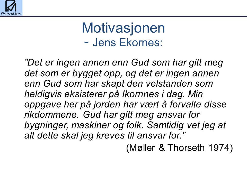 Motivasjonen - Jens Ekornes: