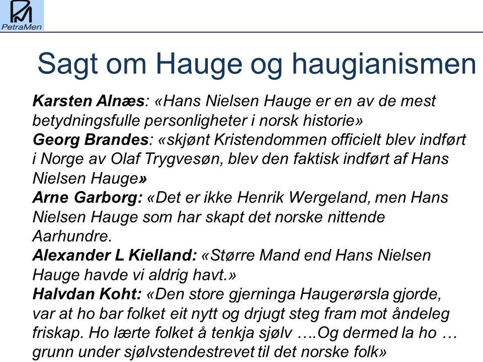 Sagt om Hauge og haugianismen