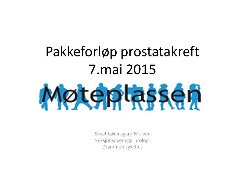 Pakkeforløp prostatakreft 7.mai 2015
