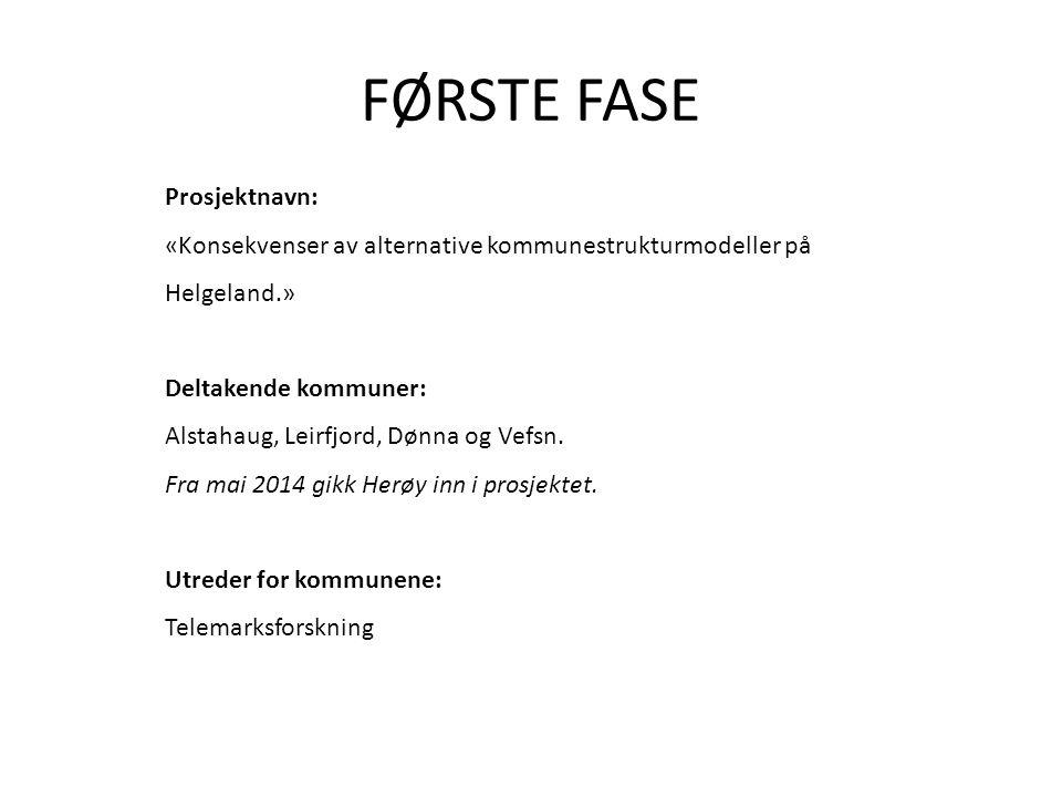 FØRSTE FASE Prosjektnavn: