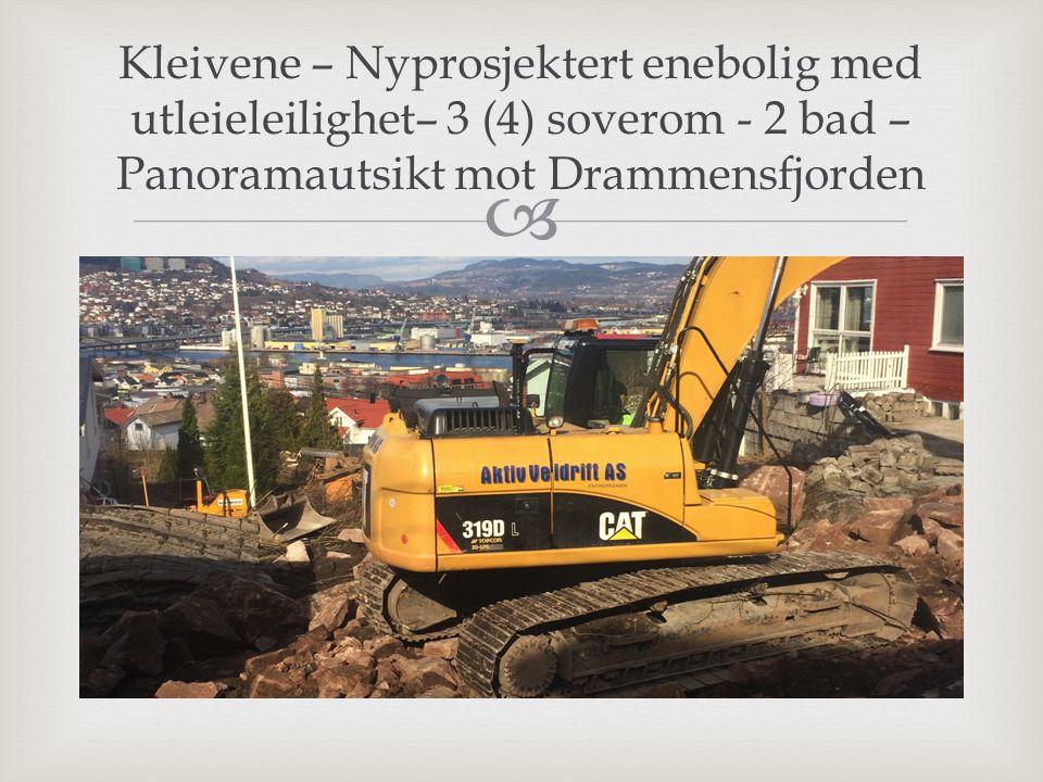 Kleivene – Nyprosjektert enebolig med utleieleilighet– 3 (4) soverom - 2 bad – Panoramautsikt mot Drammensfjorden