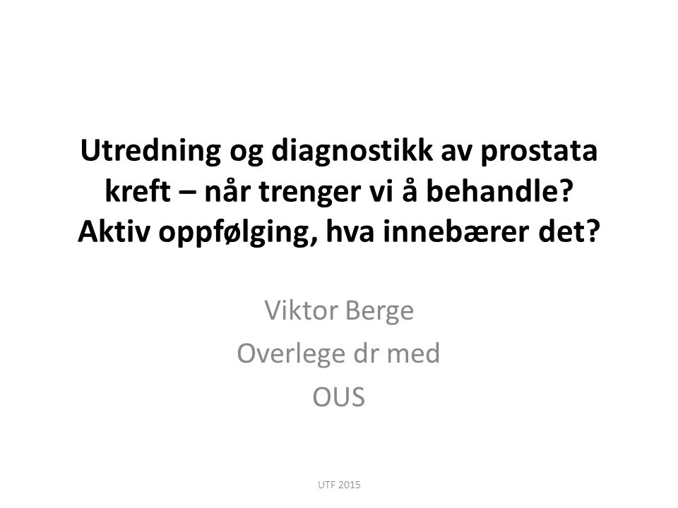 Viktor Berge Overlege dr med OUS