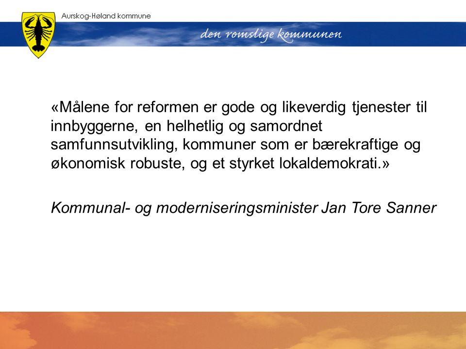 Kommunal- og moderniseringsminister Jan Tore Sanner