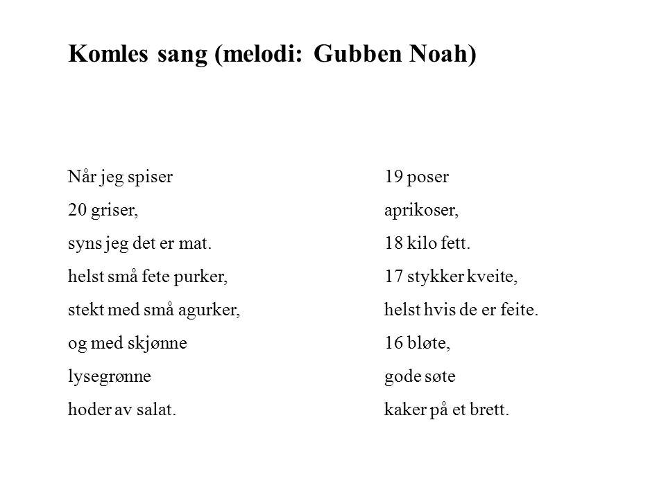 Komles sang (melodi: Gubben Noah)