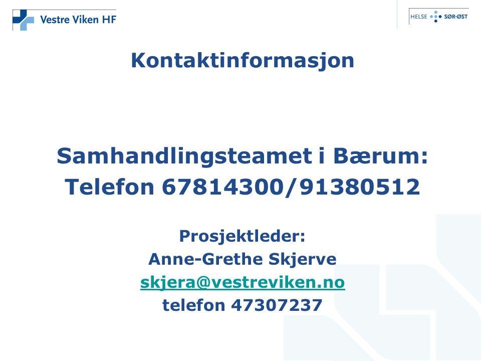 Samhandlingsteamet i Bærum: