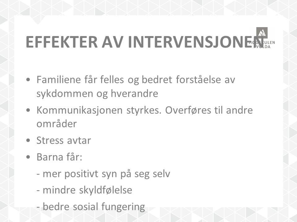 Effekter av intervensjonen