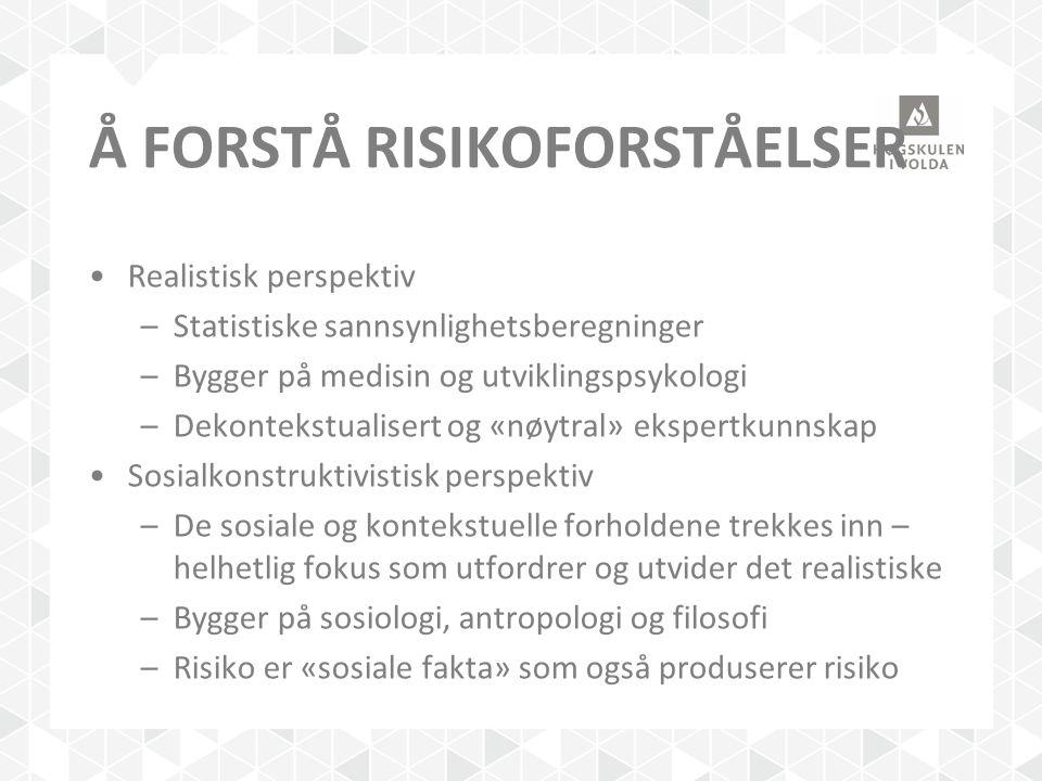 Å forstå risikoforståelser