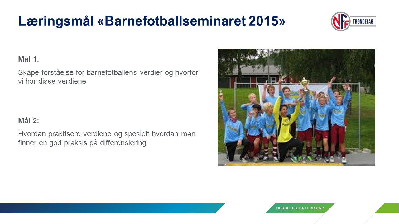Læringsmål «Barnefotballseminaret 2015»