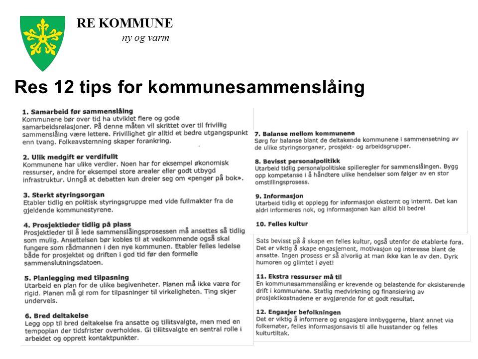 Res 12 tips for kommunesammenslåing