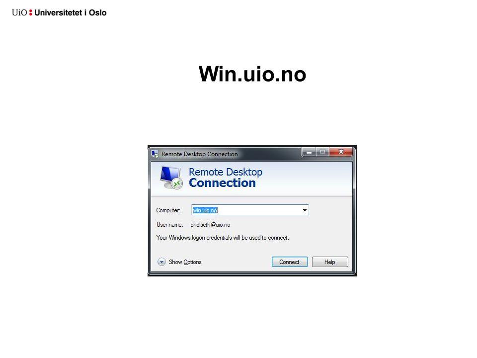 Win.uio.no
