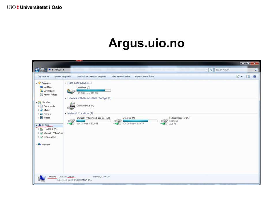 Argus.uio.no