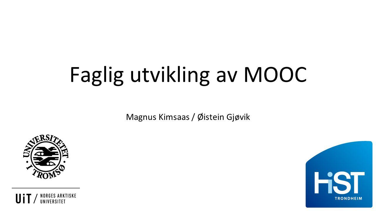 Faglig utvikling av MOOC