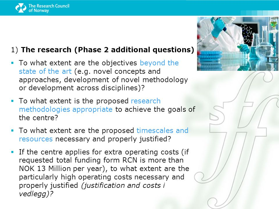 1) The research (Phase 2 additional questions)