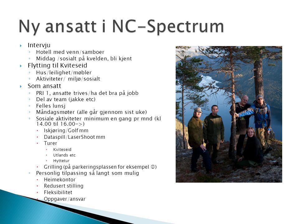 Ny ansatt i NC-Spectrum