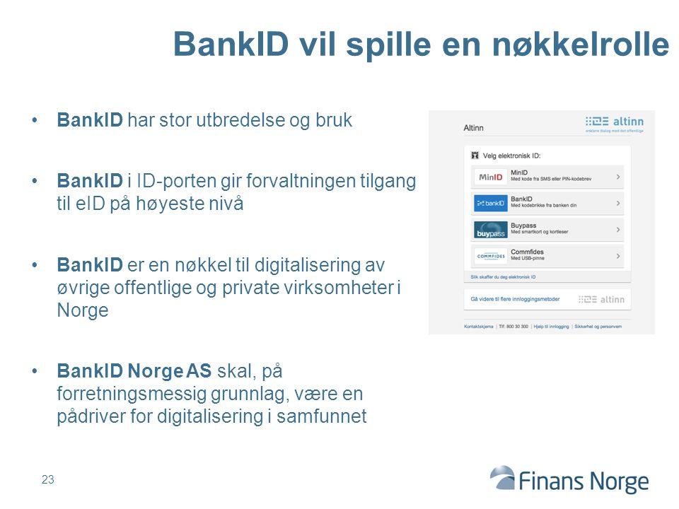 BankID vil spille en nøkkelrolle
