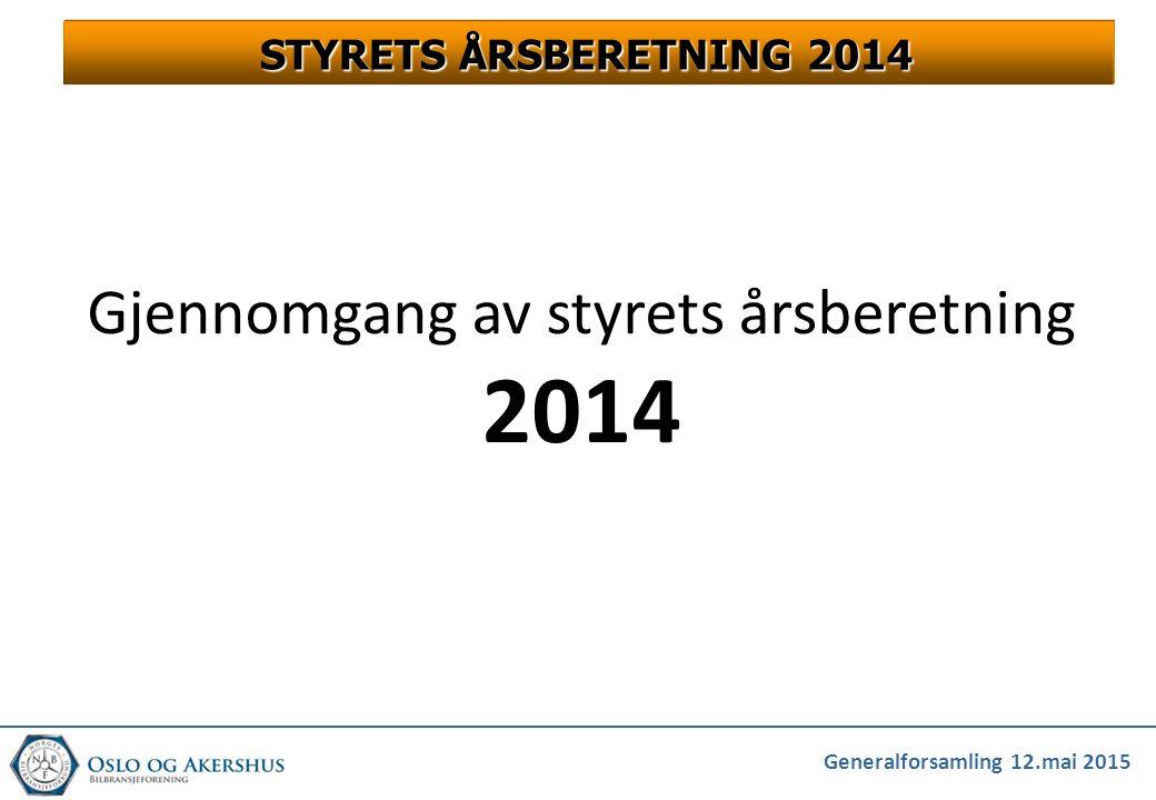 Gjennomgang av styrets årsberetning 2014