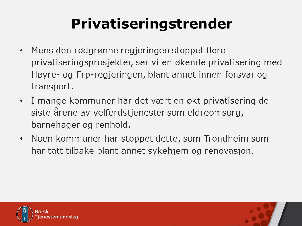 Privatiseringstrender