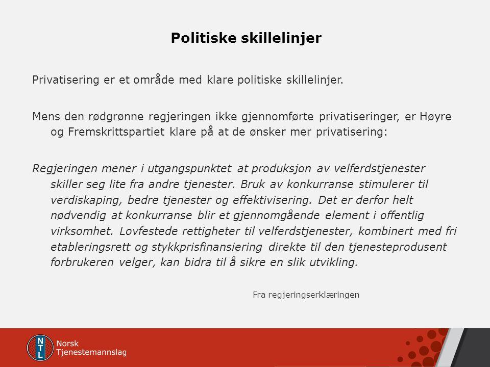 Politiske skillelinjer