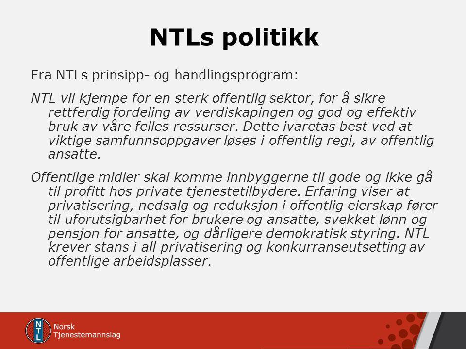 NTLs politikk
