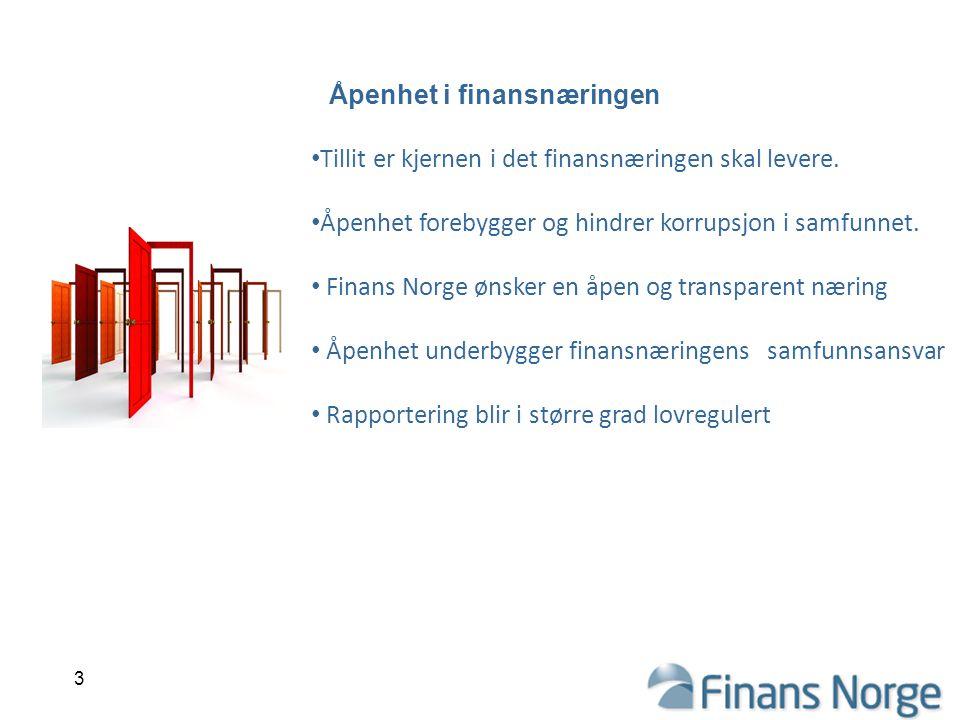 Åpenhet i finansnæringen