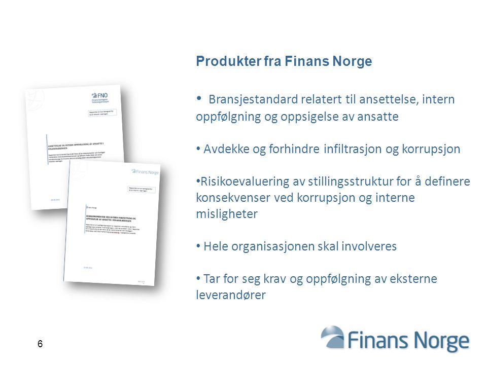Produkter fra Finans Norge