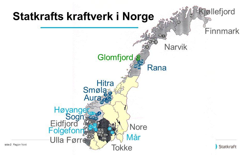 Statkrafts kraftverk i Norge