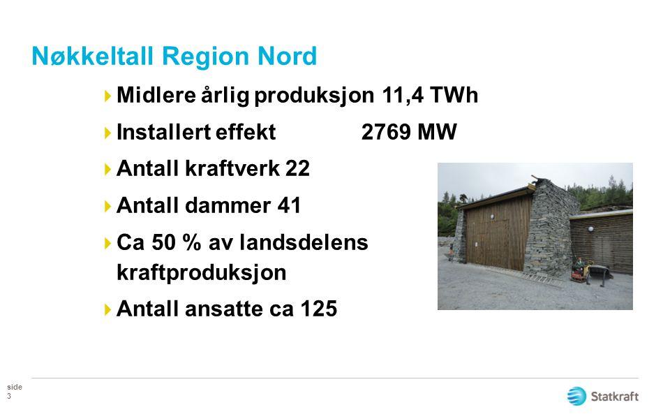 Nøkkeltall Region Nord